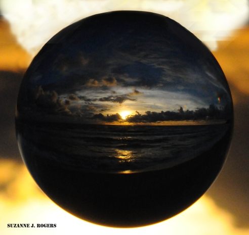 black and gold bubble sunset WM