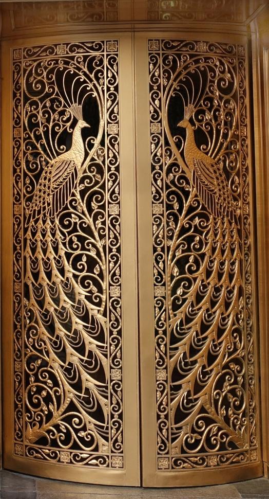 Finished Peacock door