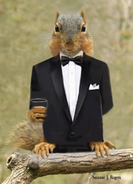 Done 2 wm Squirrel in tux and brandy